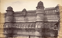[Southern facade of the] Man Mandir Palace, [Gwalior]